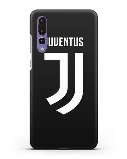 Чехол с логотипом и надписью Juventus силикон черный для Huawei P20 Pro