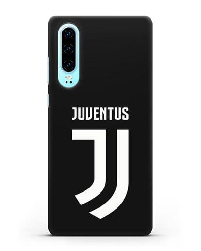 Чехол с логотипом и надписью Juventus силикон черный для Huawei P30