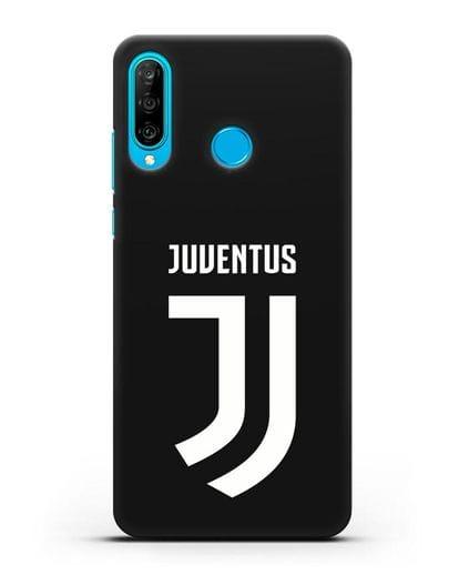 Чехол с логотипом и надписью Juventus силикон черный для Huawei P30 Lite
