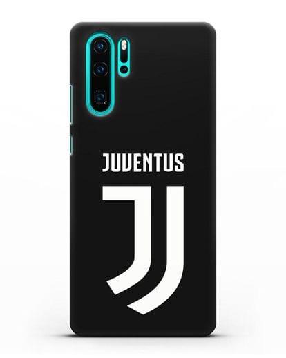 Чехол с логотипом и надписью Juventus силикон черный для Huawei P30 Pro