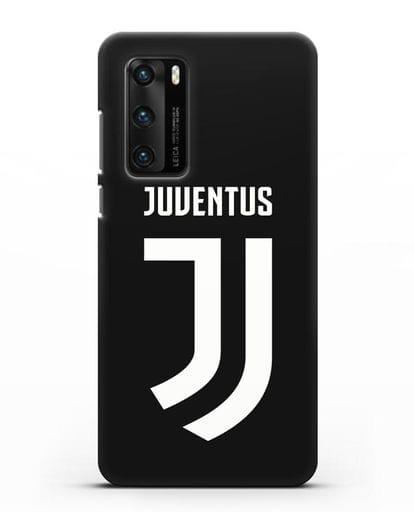 Чехол с логотипом и надписью Juventus силикон черный для Huawei P40