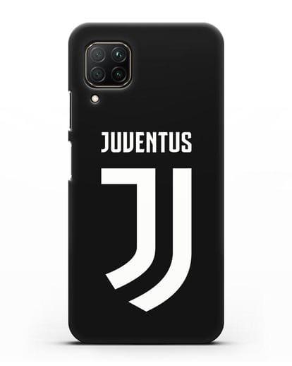 Чехол с логотипом и надписью Juventus силикон черный для Huawei P40 lite