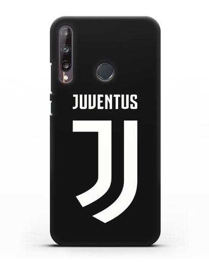 Чехол с логотипом и надписью Juventus силикон черный для Huawei P40 lite E