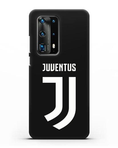 Чехол с логотипом и надписью Juventus силикон черный для Huawei P40 Pro