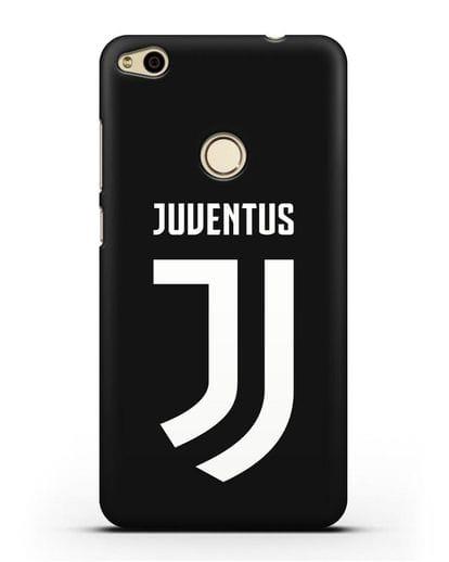 Чехол с логотипом и надписью Juventus силикон черный для Huawei P8 Lite 2017