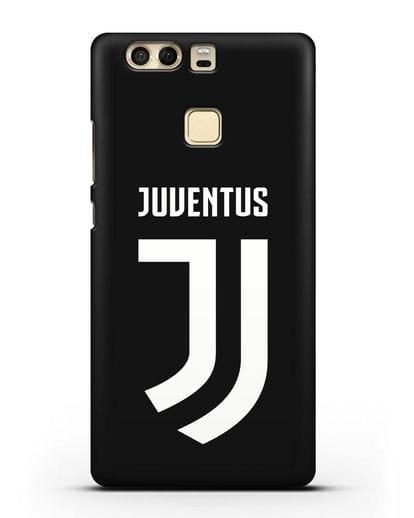 Чехол с логотипом и надписью Juventus силикон черный для Huawei P9