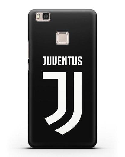 Чехол с логотипом и надписью Juventus силикон черный для Huawei P9 Lite