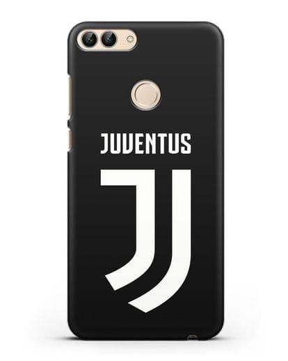 Чехол с логотипом и надписью Juventus силикон черный для Huawei P Smart