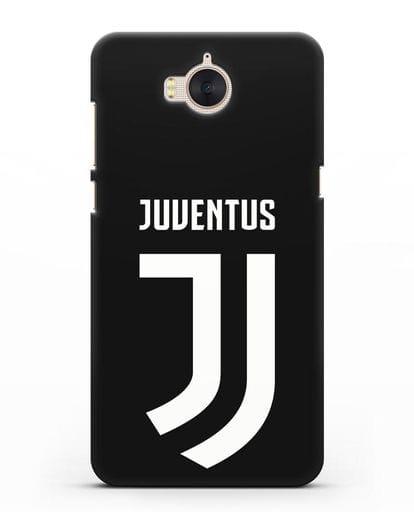 Чехол с логотипом и надписью Juventus силикон черный для Huawei Y5 2017