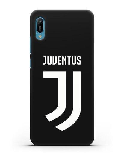 Чехол с логотипом и надписью Juventus силикон черный для Huawei Y6 2019