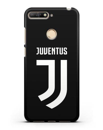 Чехол с логотипом и надписью Juventus силикон черный для Huawei Y6 Prime 2018