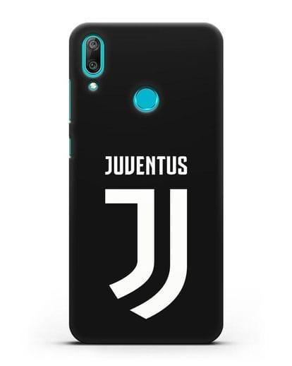 Чехол с логотипом и надписью Juventus силикон черный для Huawei Y7 2019