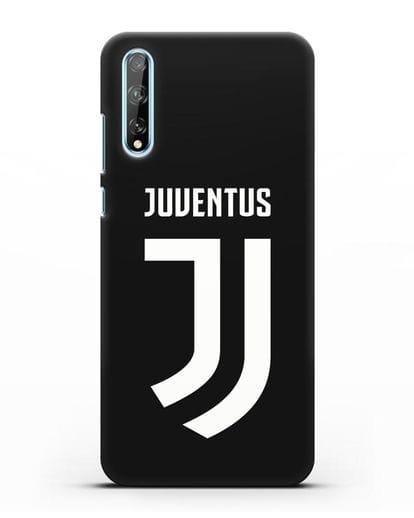 Чехол с логотипом и надписью Juventus силикон черный для Huawei Y8P