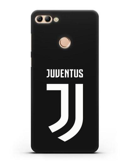 Чехол с логотипом и надписью Juventus силикон черный для Huawei Y9 2018