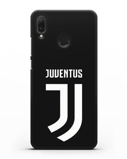 Чехол с логотипом и надписью Juventus силикон черный для Huawei Y9 2019