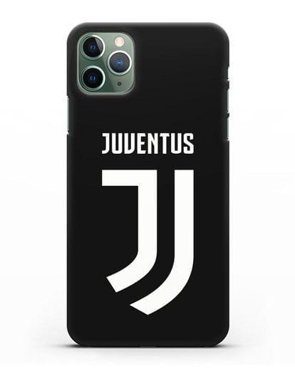 Чехол с логотипом и надписью Juventus силикон черный для iPhone 11 Pro