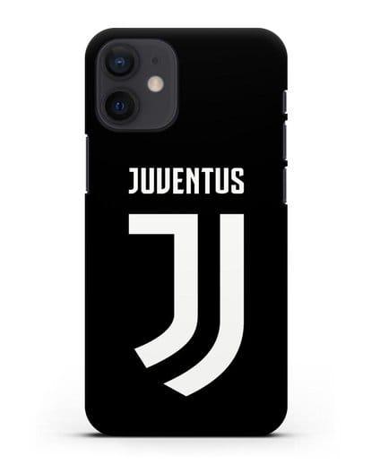 Чехол с логотипом и надписью Juventus силикон черный для iPhone 12 mini