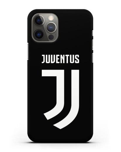 Чехол с логотипом и надписью Juventus силикон черный для iPhone 12 Pro