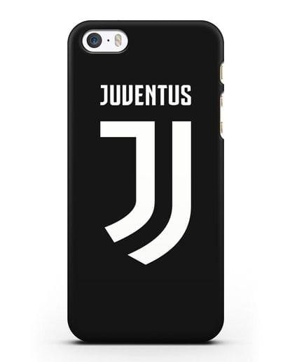 Чехол с логотипом и надписью Juventus силикон черный для iPhone 5/5s/SE