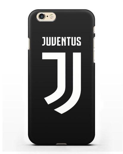 Чехол с логотипом и надписью Juventus силикон черный для iPhone 6s