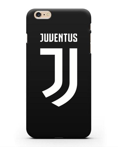 Чехол с логотипом и надписью Juventus силикон черный для iPhone 6 Plus