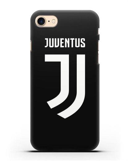 Чехол с логотипом и надписью Juventus силикон черный для iPhone SE 2020