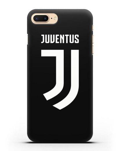 Чехол с логотипом и надписью Juventus силикон черный для iPhone 7 Plus
