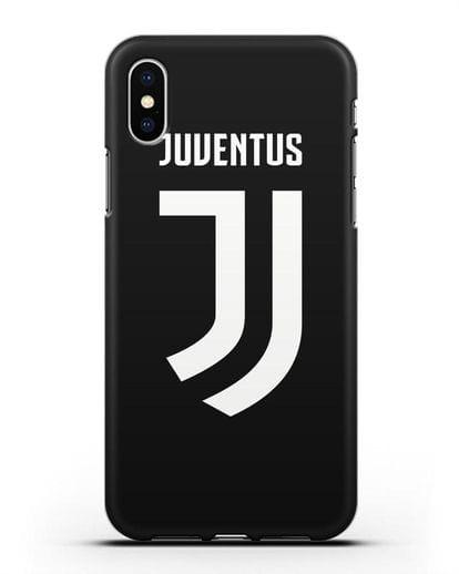 Чехол с логотипом и надписью Juventus силикон черный для iPhone X