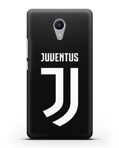 Чехол с логотипом и надписью Juventus силикон черный для MEIZU M3 Note