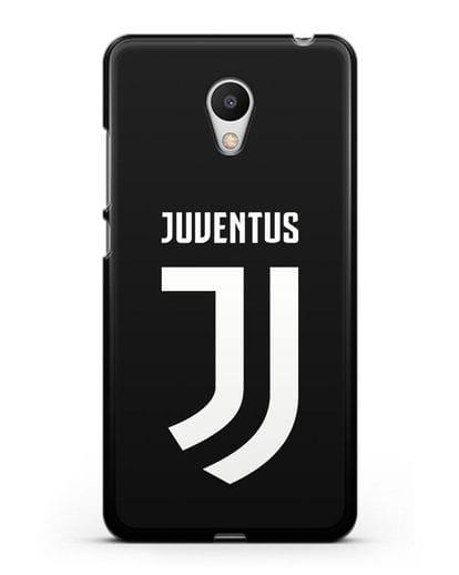Чехол с логотипом и надписью Juventus силикон черный для MEIZU M6