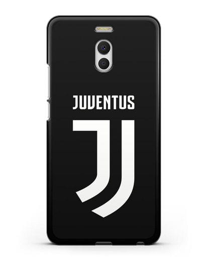 Чехол с логотипом и надписью Juventus силикон черный для MEIZU M6 Note
