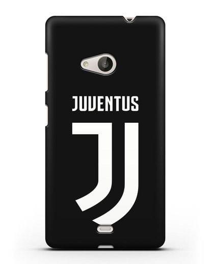 Чехол с логотипом и надписью Juventus силикон черный для Microsoft Lumia 535