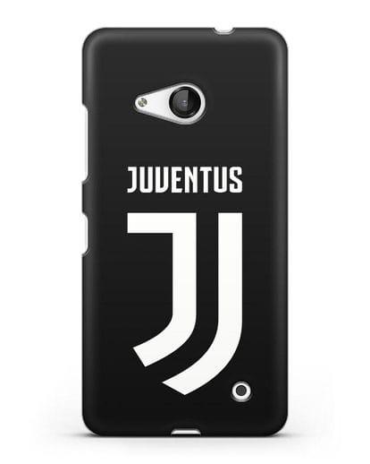 Чехол с логотипом и надписью Juventus силикон черный для Microsoft Lumia 550