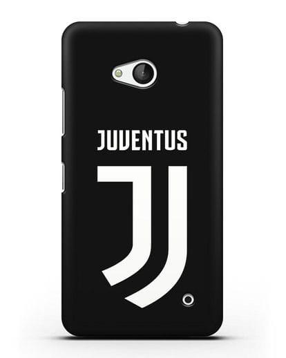 Чехол с логотипом и надписью Juventus силикон черный для Microsoft Lumia 640