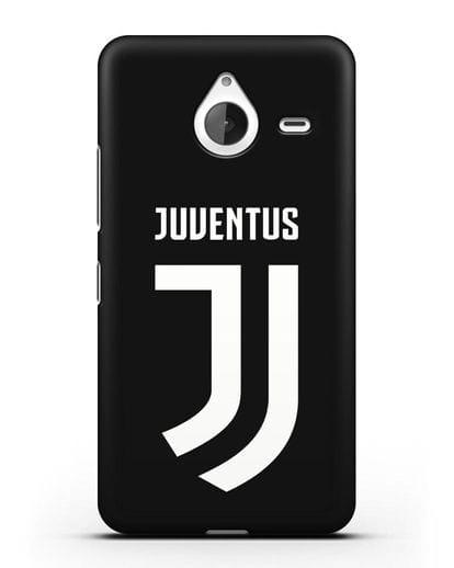 Чехол с логотипом и надписью Juventus силикон черный для Microsoft Lumia 640 XL