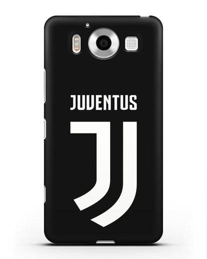Чехол с логотипом и надписью Juventus силикон черный для Microsoft Lumia 950