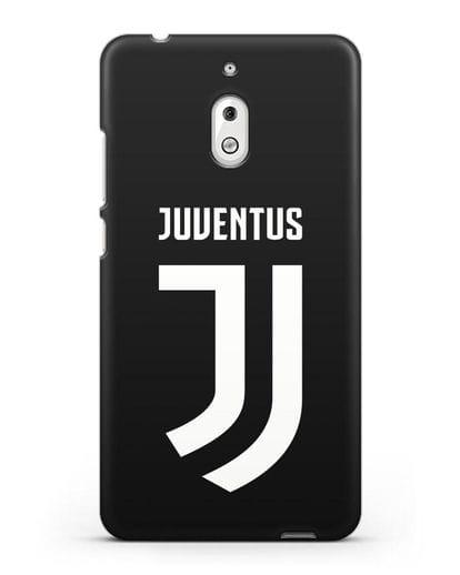 Чехол с логотипом и надписью Juventus силикон черный для Nokia 2.1