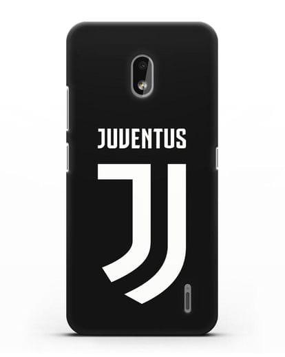 Чехол с логотипом и надписью Juventus силикон черный для Nokia 2.2 2019