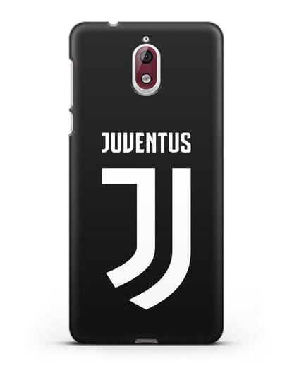 Чехол с логотипом и надписью Juventus силикон черный для Nokia 3.1