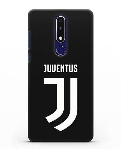 Чехол с логотипом и надписью Juventus силикон черный для Nokia 3.1 plus