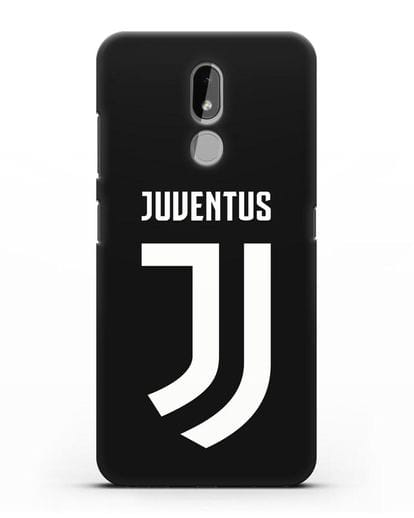 Чехол с логотипом и надписью Juventus силикон черный для Nokia 3.2 2019