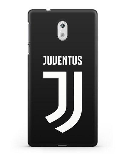 Чехол с логотипом и надписью Juventus силикон черный для Nokia 3