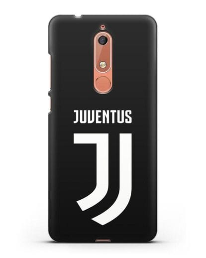 Чехол с логотипом и надписью Juventus силикон черный для Nokia 5.1