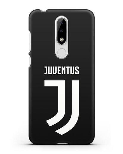 Чехол с логотипом и надписью Juventus силикон черный для Nokia 5.1 plus