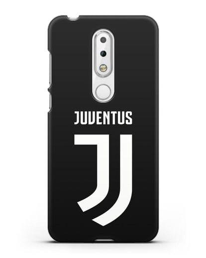 Чехол с логотипом и надписью Juventus силикон черный для Nokia 6.1 plus