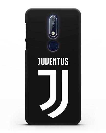 Чехол с логотипом и надписью Juventus силикон черный для Nokia 7.1