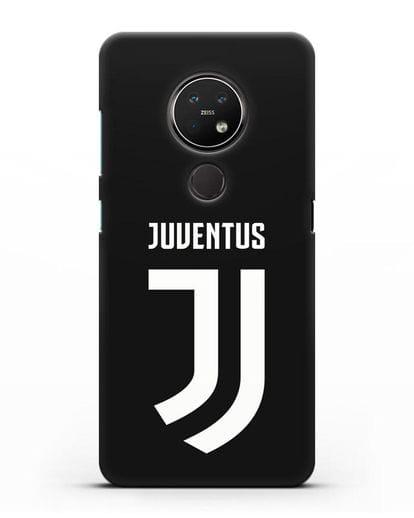 Чехол с логотипом и надписью Juventus силикон черный для Nokia 7.2
