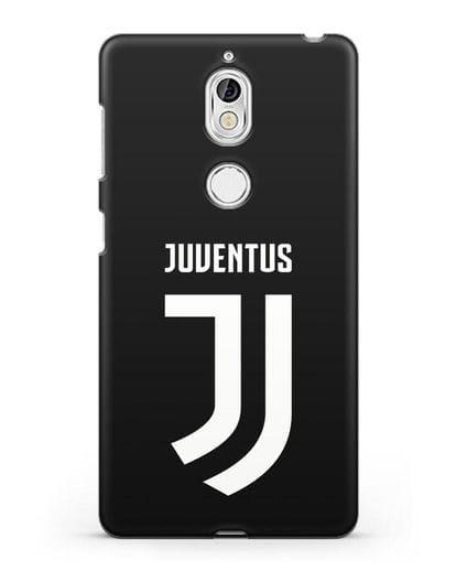 Чехол с логотипом и надписью Juventus силикон черный для Nokia 7