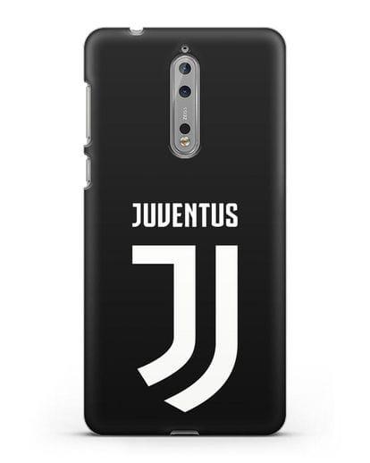 Чехол с логотипом и надписью Juventus силикон черный для Nokia 8