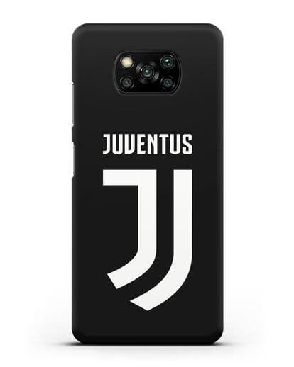 Чехол с логотипом и надписью Juventus силикон черный для Xiaomi Poco X3
